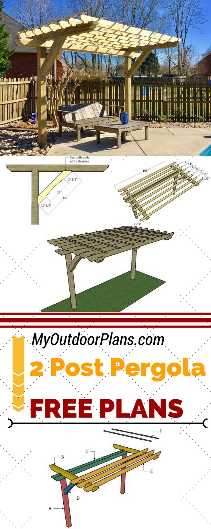 Best 25+ Pergola plans ideas on Pinterest | Pergola, Diy pergola ...