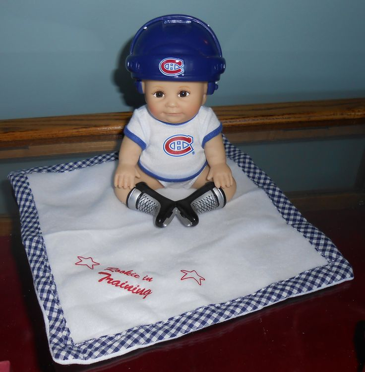 "Montreal Canadiens Habs Hockey ...The Bradford Exchange Doll ""Rookie In Training"""