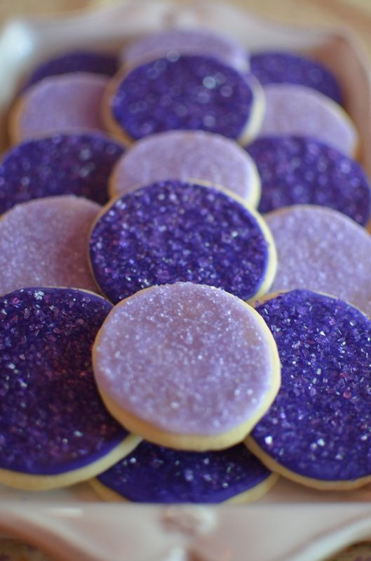Pretty cookies for a purple Sofia the First Birthday Party