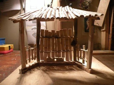 Tabletop Nativity Stable
