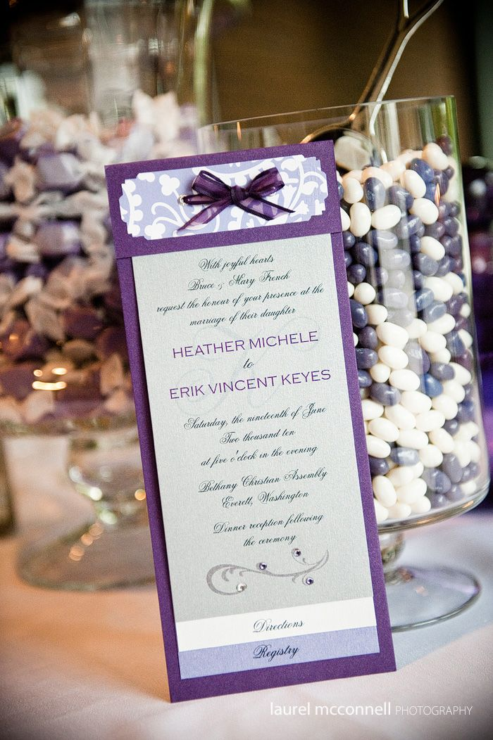 Purple Diy Invitations