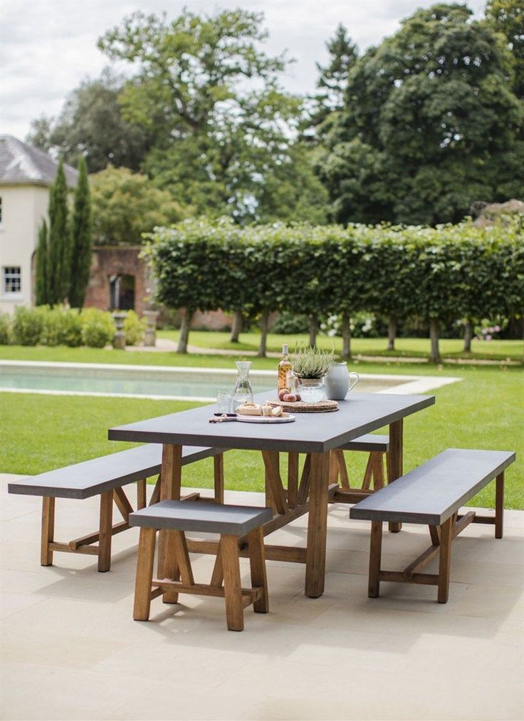 Looking for a modern style statement in the kitchen or dining room? Perhaps you'd like an outdoor dining set with a more contemporary look? The Chilson Table and Bench Set is the perfect solution for those looking for an industrial edge to smarten up thei