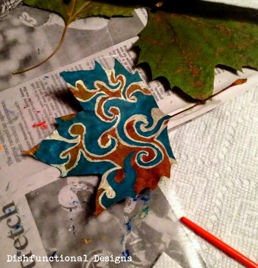 DIY Painted Leaves Tutorial