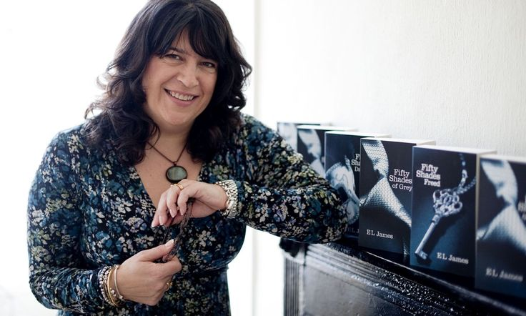 How much has E.L. James earned from Fifty Shades of Grey and the movie rights?