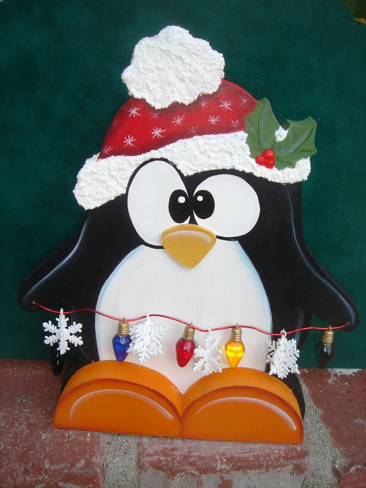 Penguin wood crafts