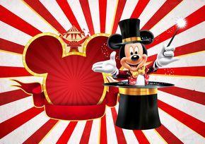 Convite festa Mickey Circo
