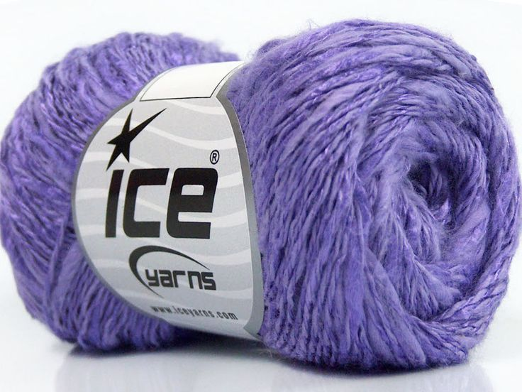 Limited Edition Spring-Summer Yarns Viskon Yazlık  Pamuk Flamme Natural Yarn Fine Weight Leylak  İçerik 60% Pamuk 40% Viskon Lilac Brand ICE fnt2-41429