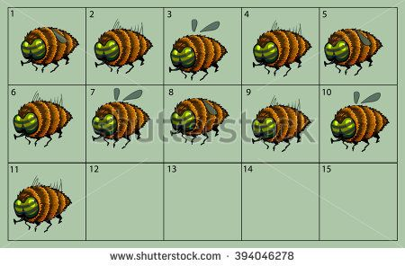 cartoon vector gadfly animation fly. Game icon funny flying insect. Vector design for app user interface.