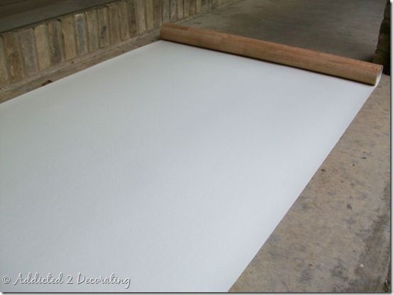 How to make a hand painted floor cloth painted floors for How to paint a floor cloth