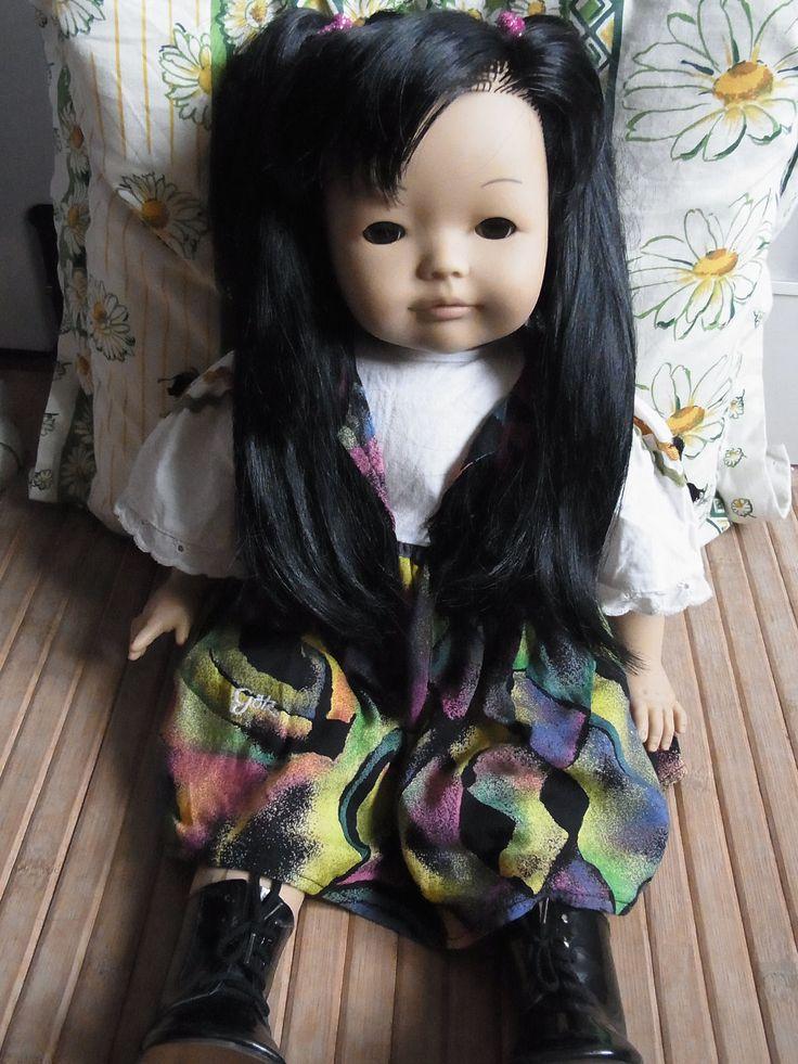 Süße Asiatische Götz Puppe Mädchen girl doll lange schwarze Haare in Spielzeug, Puppen & Zubehör, Sonstige | eBay
