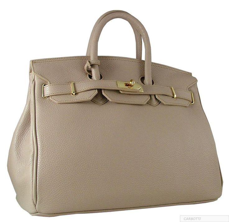 birkin style leather handbag
