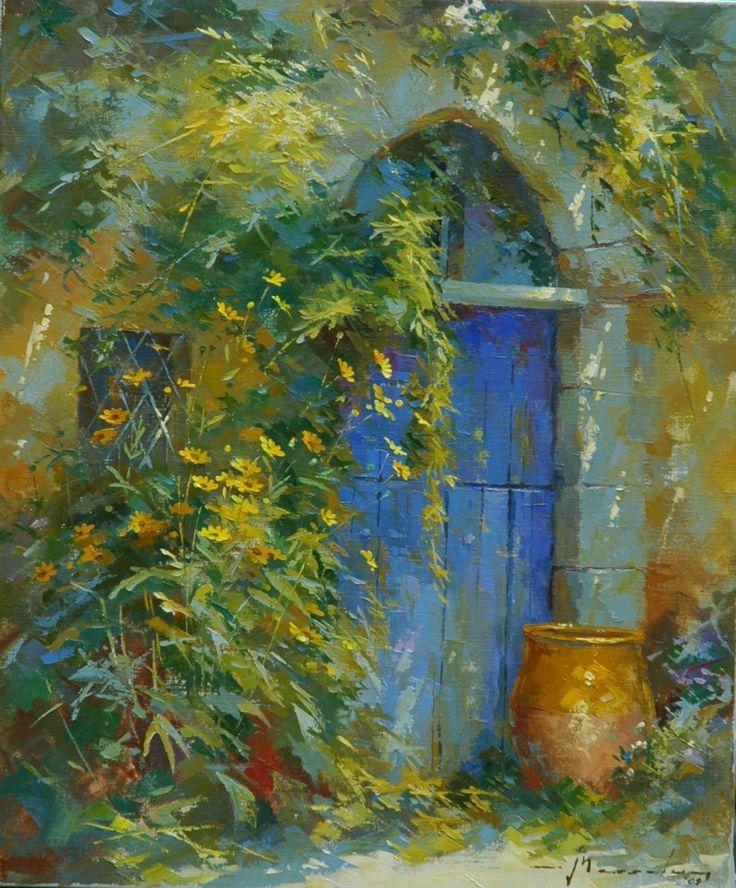 Johan Messely 1927 | Belgian painter | The Secret Gardens | Tutt'Art@