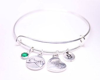 Christmas gift for sister, Pinky Swear Bangle, Pinky Promise Bracelet, Gift for sister, Gift for cousin, Birthday gift for sister, #ad