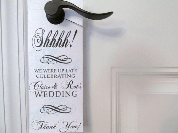 Hotel Door Hanger for Wedding Guests Set of 10 by ourlittleprints, $10.00