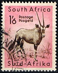 South Africa 1954 Wild Animals SG 161 Gemsbok Antilope  Fine Used    SG 161 Scott 210 Other South African Stamps HERE