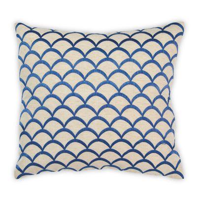 40X40cm Scallop cushion French Blue