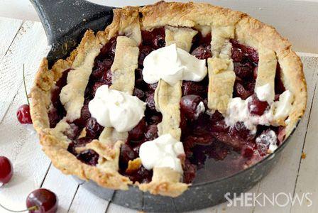 It's Pi(e) Day: Drunken skillet cherry pie #recipe