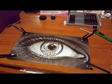 how to draw realistic eye speed drawing disegnare un occhio realistico d...