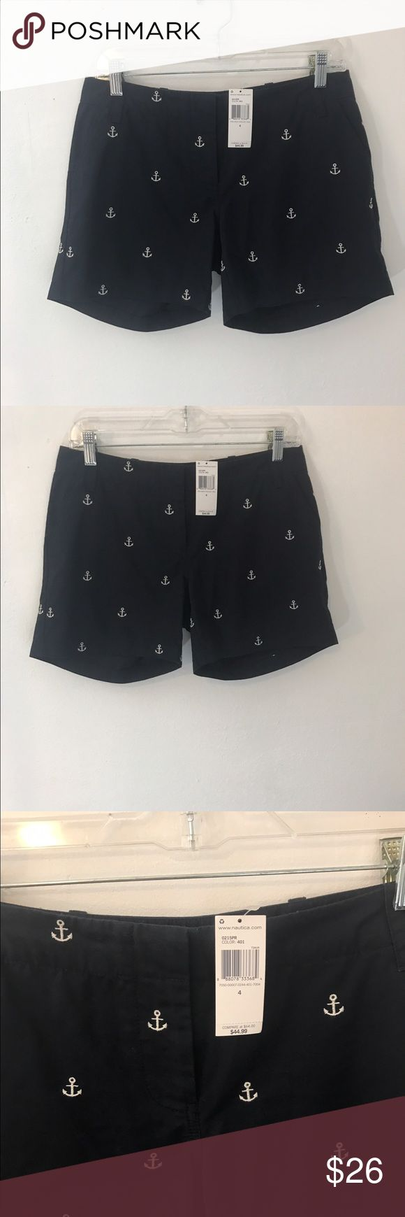 Nautica Nautical Shorts Size 4 Anchor navy Blue Womens Nautica Nautical Shorts Size 4 Anchor navy Blue White Yacht Boating NWT  Brand new with tags. J. Crew Shorts