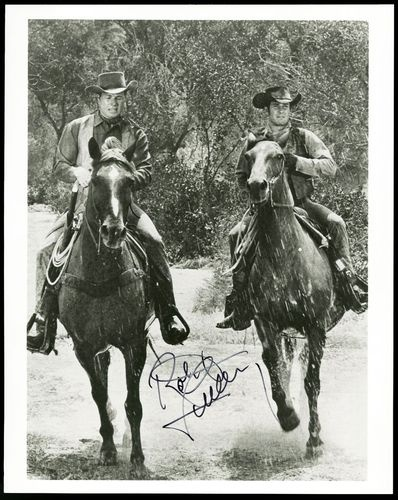 Robert Fuller & John Smith in  LARAMIE  Robert's horse was, Traveler. John Smith rode Alamo.