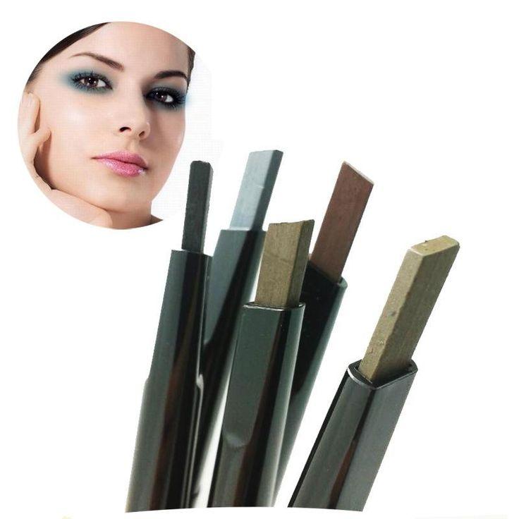Loumeou / Romeo quadrado rotação automática não se desvanece durável lápis de sobrancelha impermeável atacado Maquillage maquiagem alishoppbrasil