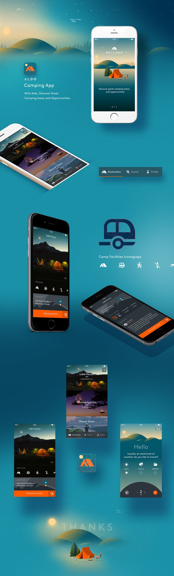 Camping App on Behance