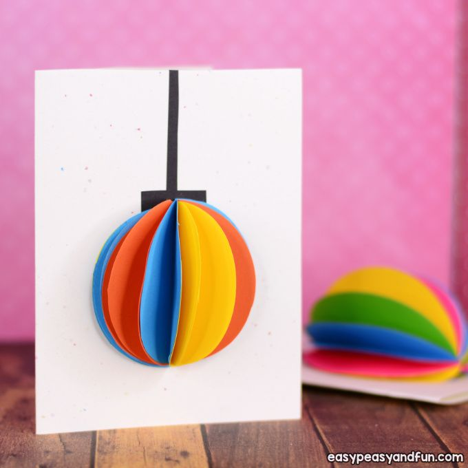Diy 3d Paper Ornament Christmas Card Idea With Images