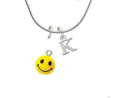 3-D Happy Face Yellow Smiley Face necklace, Smiley faces, Smiley face earrings, smiley face necklace, emoji jewelry, emoji necklace, emojis by KearcyDesigns on Etsy