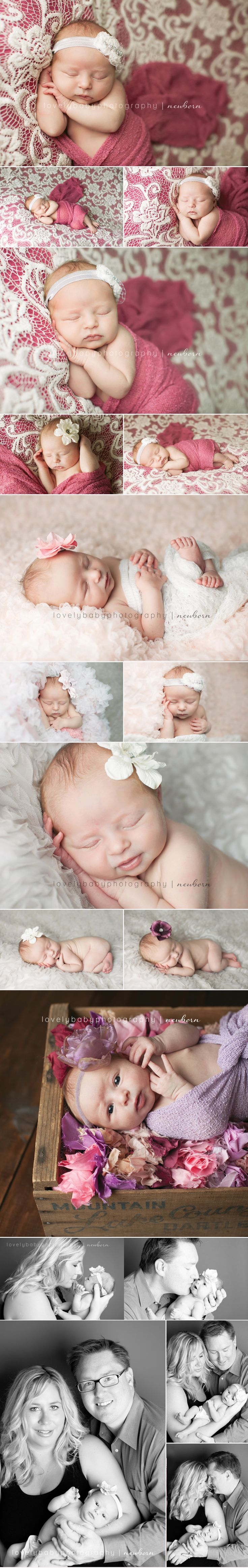 Newborn Baby Girl in pink!