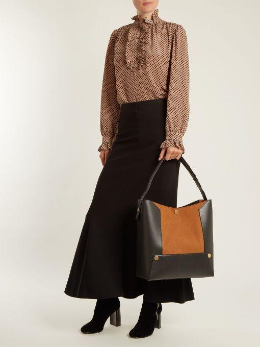 Stella McCartney Stella Popper faux-suede shoulder bag