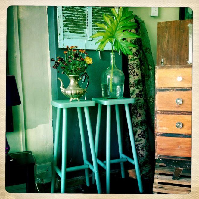 Turquoise bar stools