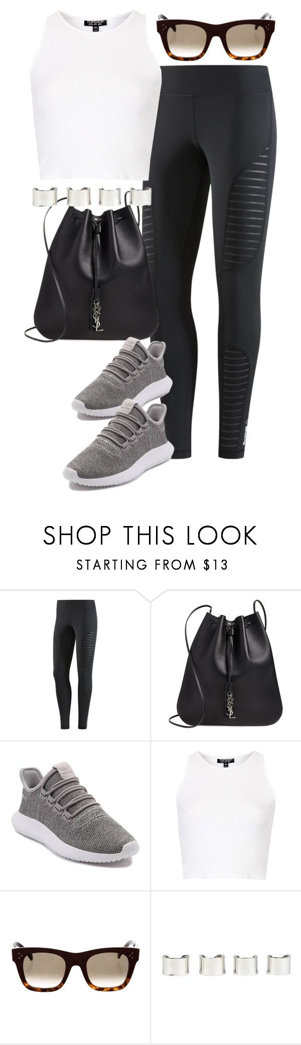 """""""Untitled #4283"""" by lily-tubman ❤ liked on Polyvore featuring Reebok, Yves Saint Laurent, adidas, Topshop, CÉLINE and Maison Margiela"""