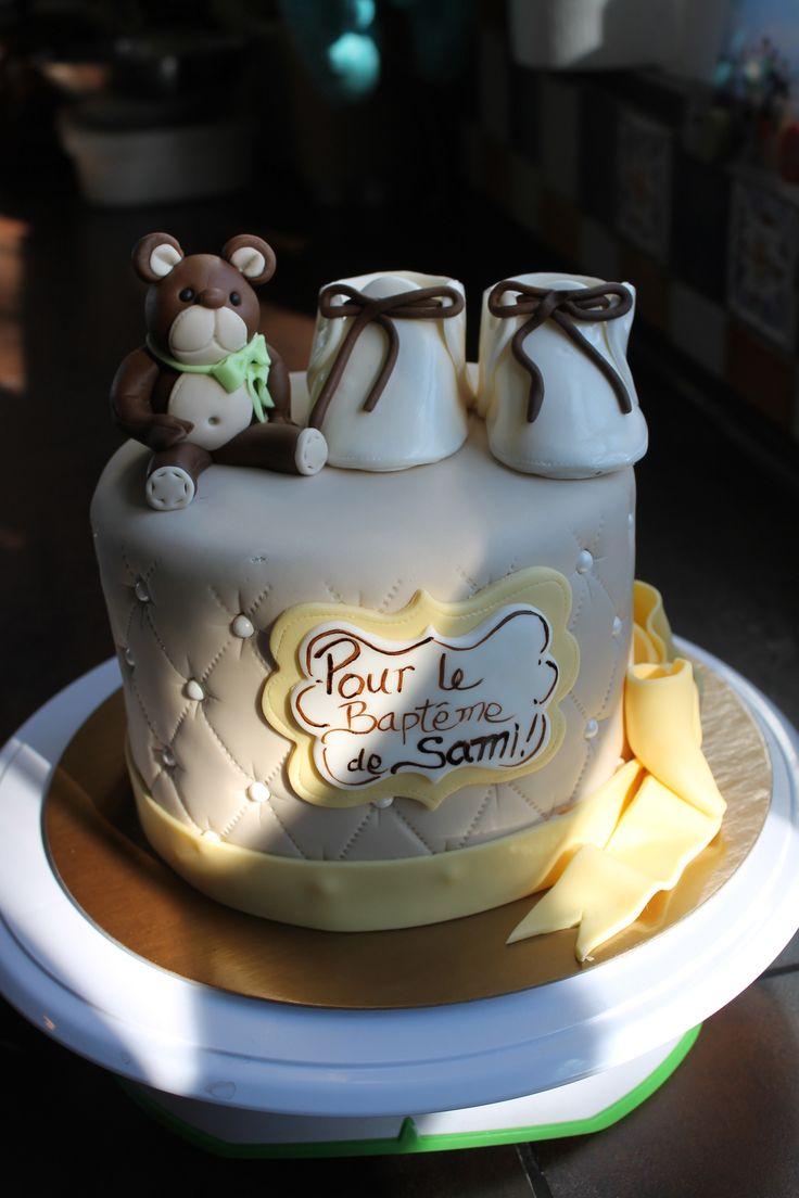G teau pour un bapt me de b b cup cakes pinterest - Gateau pour bebe 1 an ...