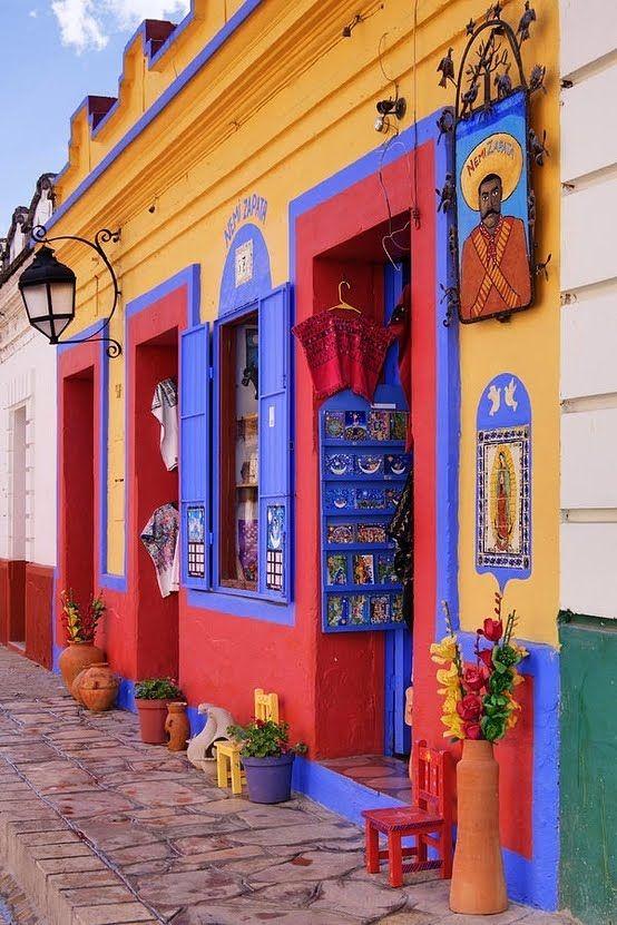 San Cristóbal de las Casas, Mexico - fair-trade shop selling products made by Zapatista communities.