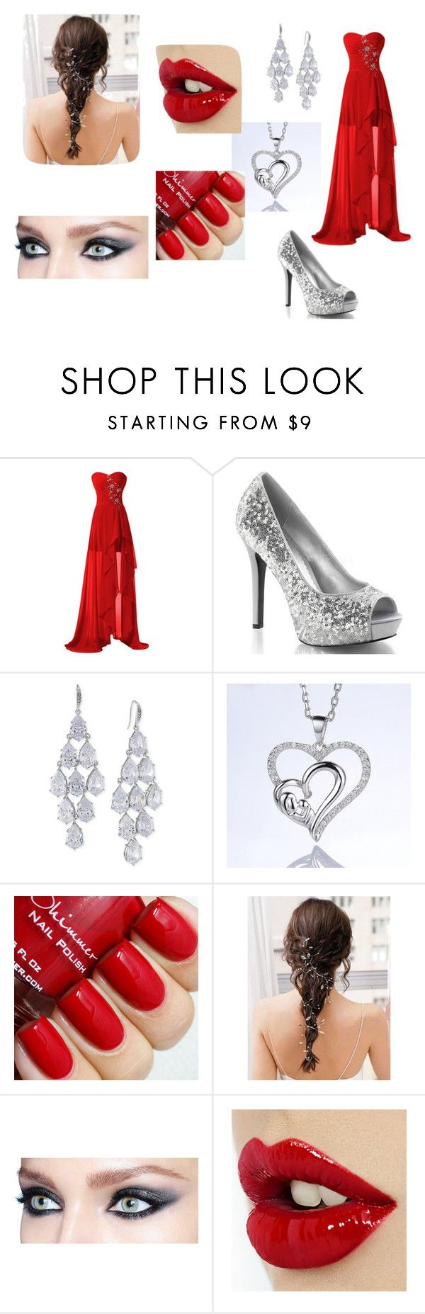 Red Prom by jill-nicole-1 on Polyvore featuring Carolee