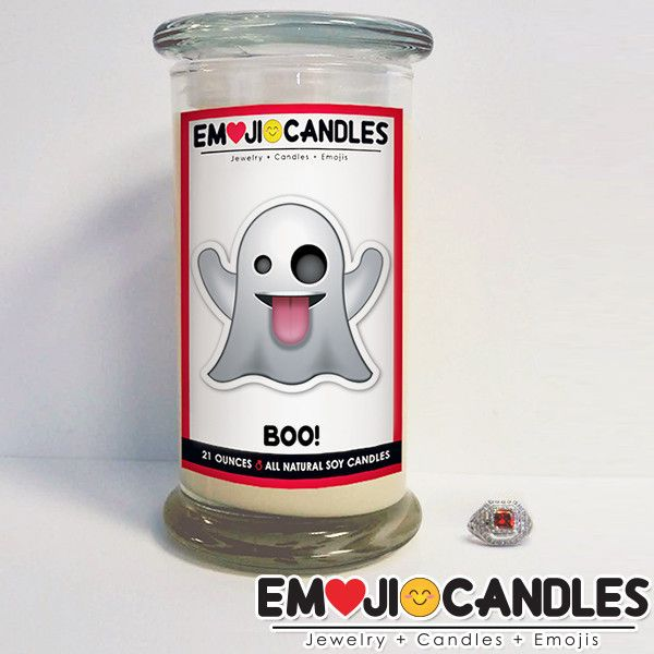 Boo! - Emoji Candles - The Official Website of Jewelry Candles - Find Jewelry In Candles!