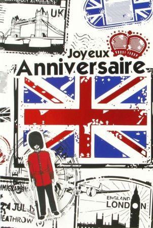 Cartes anniversaire Londres, Livraison gratuite http://lacarteriedeflavie.com/
