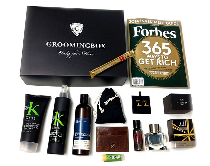 PRODUCTS IN GROOMINGBOX #WALLSTREET: 1 #Skultuna -GOLD plated CuffLinks-Black Tie 2 #SADDLER cardholder wallet 3 #DUNHILL London BLACK 4. #KpourKARITÉ -Strong Hold gel 5. #KpourKarité - Energizing anti hair loss(200ml) 6. #PHENOME Energizing All Over Wash (250 ml) 7. #GAMEDAY Shower Gel 8. #HURRAW -Organic Lip balm. Mint 9. #GOLDKENN -Cigar Chocolate Club 10. #FORBES -365 Ways To Get Rich. VALUE: €220! You pay: €99-70. #mensgrooming #lifestyle #menswear #accessories #mensfashion…