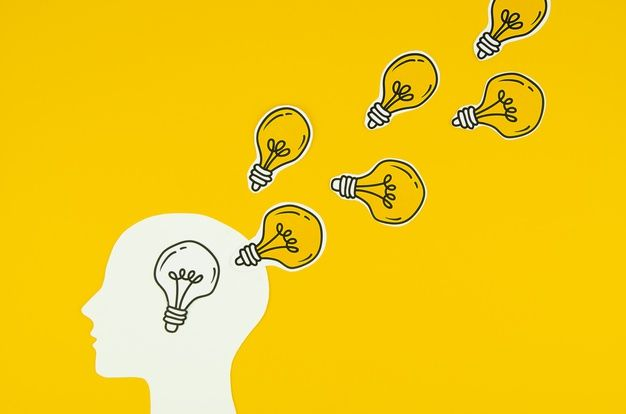 Download Golden Light Bulb As Ideas Of A Person for free | Bombillas, Proyectos, Insignias