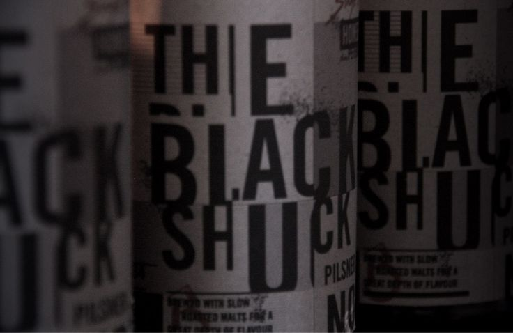 The Black Shuck Craft Beer. Packaging. Bottle and Label. Brand Mark. Typography. Designed by White is Black.