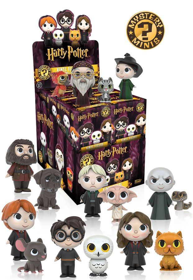 I WANT THEM ALL!!!!  Funko will be adding Harry Potter characters to their Mystery Mini line of vinyl figures. Designed quite differently than the Pop! Funko original figures(all of which can be seen here), these Harry Potter figurines are still very adorable, especially when accompanied by their pets.  They all seem too cute and too perfect for words–Ron ...read more!