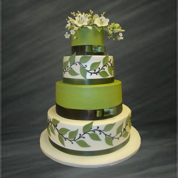 49 Best Images About Cakes Green And White On Pinterest Wedding Cakes An