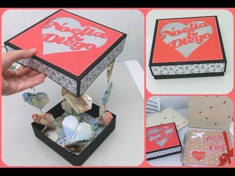 Caja para dar dinero en una boda de forma original  - Corazones con billetes - YouTube