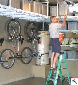 This is an AWESOME use of wasted space for garage storage