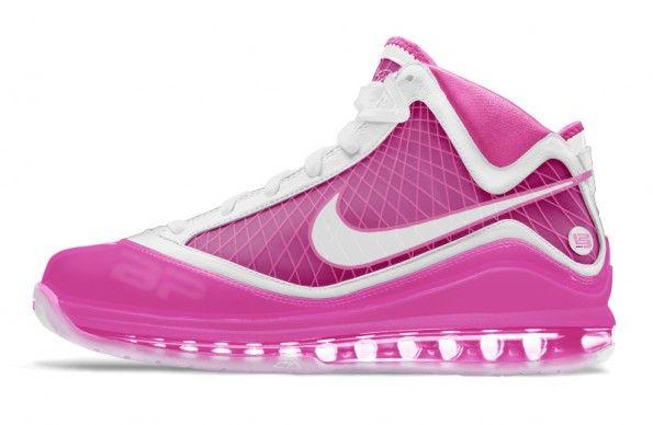 New All Pink Lebrons 2013 | lebron_vii_pink | 64701 | KicksOnFire