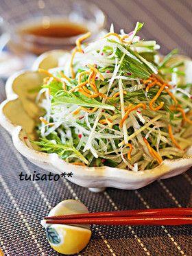 水菜と白髪葱の和風サラダ by ついてるさとちゃん [クックパッド] 簡単 ...