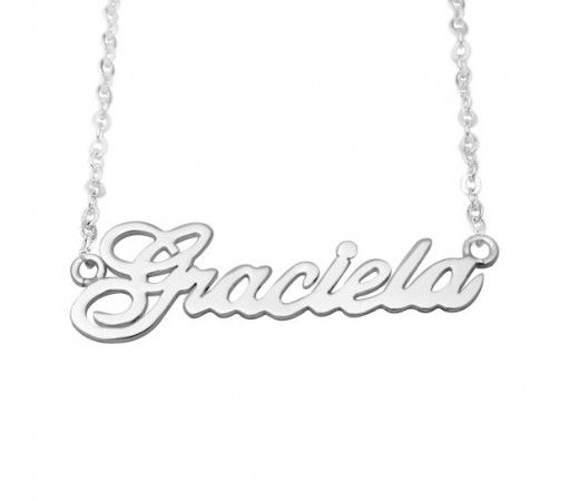 Personalized Fraciela Name Necklace in Sterling Silver