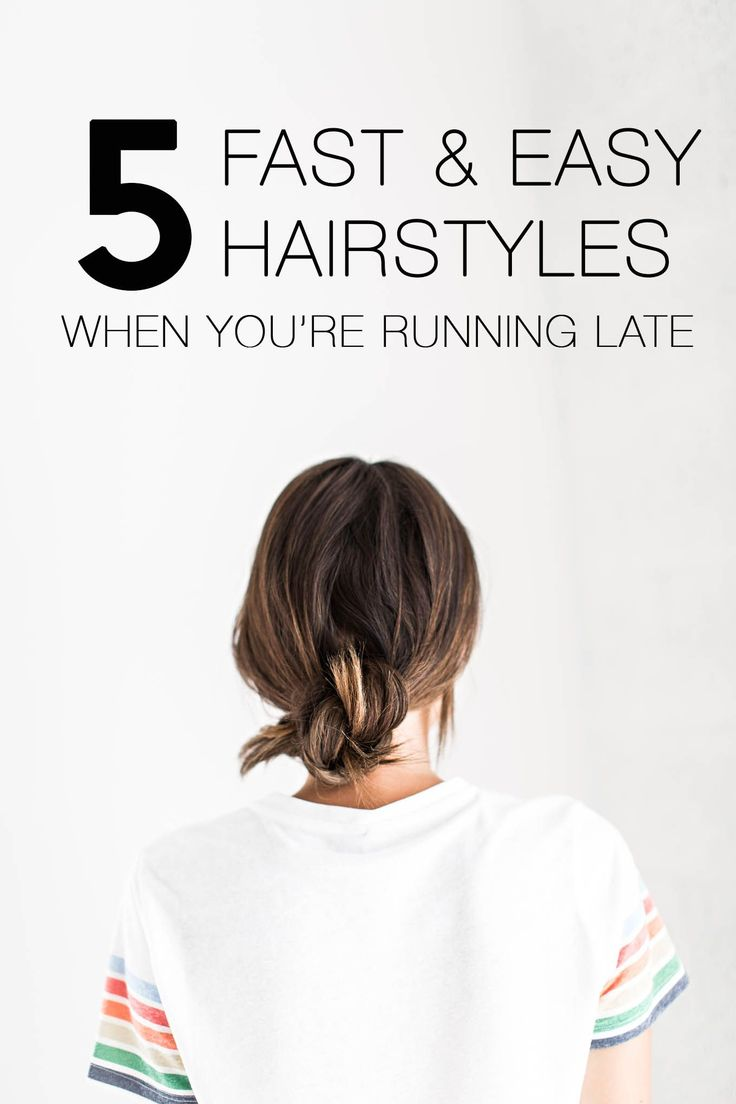 5 Fast & Easy Hairstyle For When You're Running Late   Hello Fashion
