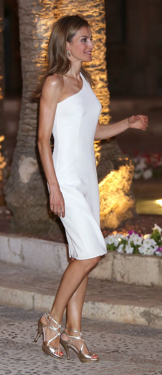 King Felipe and Queen Letizia along with Queen Sofia of Spain hosted a reception at their vacation Palace in Mallorca. Aug. 7, 2014