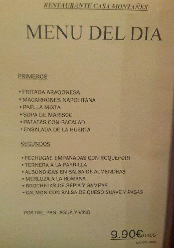 ¿Tenéis hambre? ¡Pues mirad lo que tenemos hoy de menú en Restaurante Casa Montañes! www.casamontanes.com